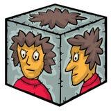 Head inside a box Stock Photo