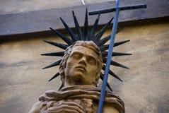 head italy statytuscany volterra Royaltyfria Bilder