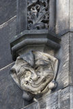 Head of jester - Gothic architectural decoration Stock Image