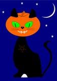 Head katt för pumpa vektor illustrationer