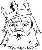Head of king Royalty Free Stock Image