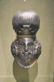 Head of a king, Iran Art. Head of a king, Gilded silver, Iran, Sasanian period, 4th century A.D Stock Photos
