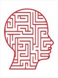head labyrintvektor stock illustrationer