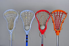 head lacrosse för pojkeflickor Fotografering för Bildbyråer