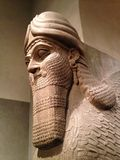 Head of Lamassu in Metropolitan Museum of Art. Stock Photos