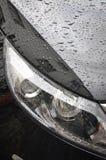 Head Lamp Of black Car Stock Photos