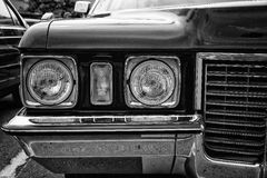 Head lamp Cadillac Coupe de Ville (black and white) Royalty Free Stock Photo