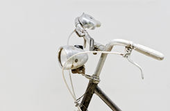 Head lamp and Handlebar of  bicycle Stock Photo