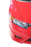 Head Lamp Of Red Car Stock Photos