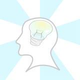 head lampa Arkivfoto