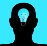 head lampa 3 Arkivfoto