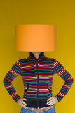 head lampkvinna Fotografering för Bildbyråer