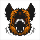Head of laughing hyena Royalty Free Stock Images