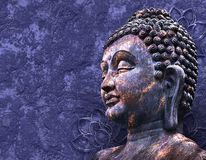 Head le Buddha Arkivbilder