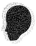 Head and letters Stock Photo