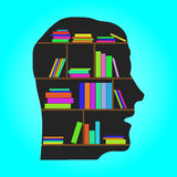Head Library - flat concept vector illustration Stock Photos