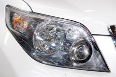 Head light. On new modern car royalty free stock photography
