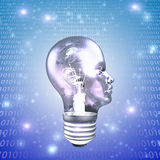 Head Light Bulb Stock Photography