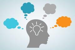 Head Light Bulb Idea Stock Image