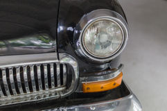 Head-light and grille of old soviet retro style car Stock Image