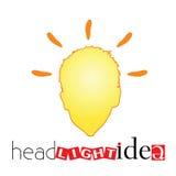 Head light idea art vector illustration Stock Photography