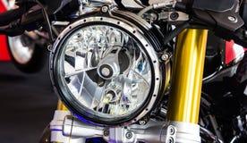Head light of motorcycle Stock Photos