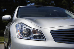 Head light and rear view mirror Royalty Free Stock Images