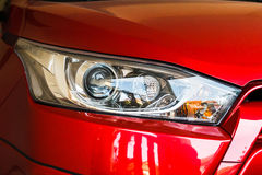 Head light of red car. Royalty Free Stock Photography