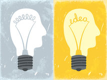 Head lightbulb Stock Images