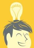 Head lightbulb Stock Photo