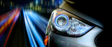 Head lights. Car head lights close-up Royalty Free Stock Image
