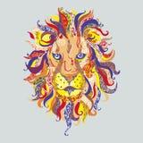 head lion Arkivbild