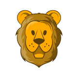 Head of lion icon, cartoon style. Head of lion icon in cartoon style on a white background Royalty Free Stock Photo