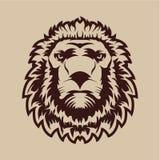 head lion också vektor för coreldrawillustration Royaltyfria Foton