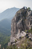 Head of Lion rock Royalty Free Stock Images