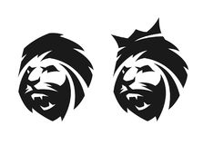 The head of a lion, two options. Stock Photos