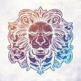 Head of Lion. vector illustration. vector illustration