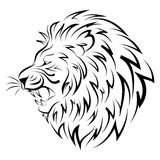 head of lion - vector Royalty Free Stock Images