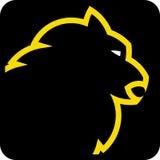 head lionvektor stock illustrationer