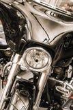 Head ljus av motorcykeln arkivbilder