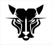 Head logo för katt Head symbol för panter vektor illustrationer