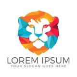 Head logodesign för lejon Royaltyfria Bilder