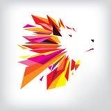 Head logodesign för varg Royaltyfri Foto