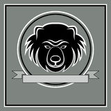 Head logoemblem för björn Royaltyfria Bilder