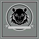 Head logoemblem för tiger Arkivfoto