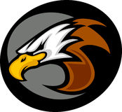 head logomaskot för örn stock illustrationer
