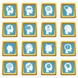 Head logos icons azure Royalty Free Stock Photo