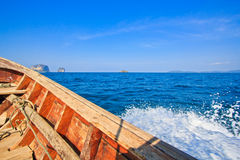 Head of long tail boat in the south of Thailand Royalty Free Stock Image