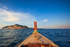 Head of long tail boat in the south of Thailand Stock Images