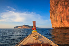 Head of long tail boat in the south of Thailand Stock Photos